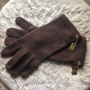 RL brown ladies gloves